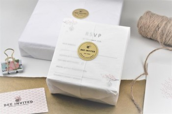 Wrapped Wedding Invitations and Stickers
