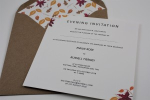 Autumn Fall Evening Invitation - Basic