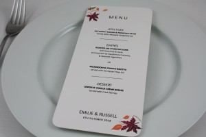 Autumn Fall Menu