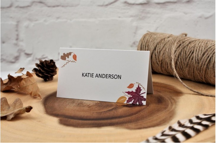 Autumn Heart Place Card