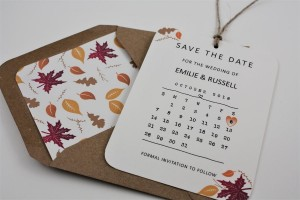 Autumn Fall Save the Date