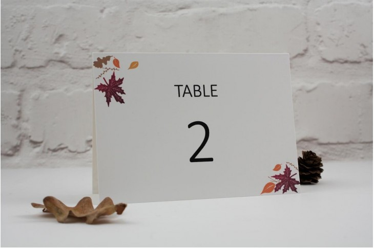 Autumn Heart Table Number / Name Card