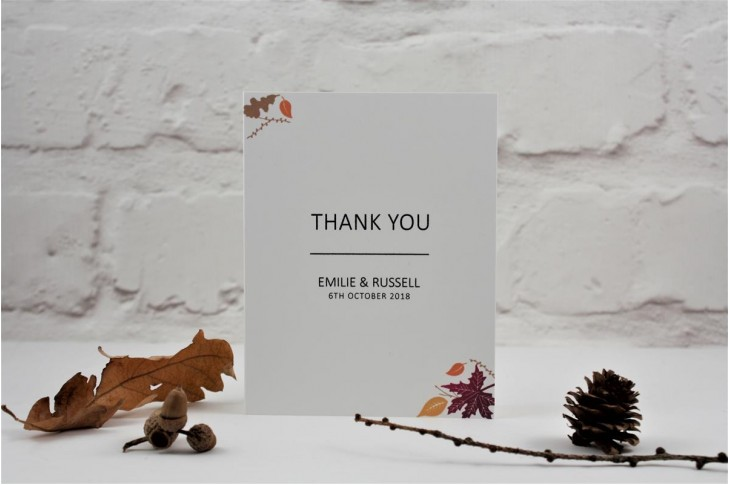 Autumn Fall Thank You Card