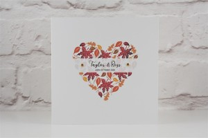 Autumn Heart Wedding Invitation