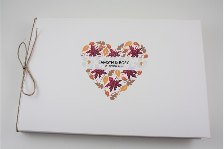 Autumn Heart Guest Book