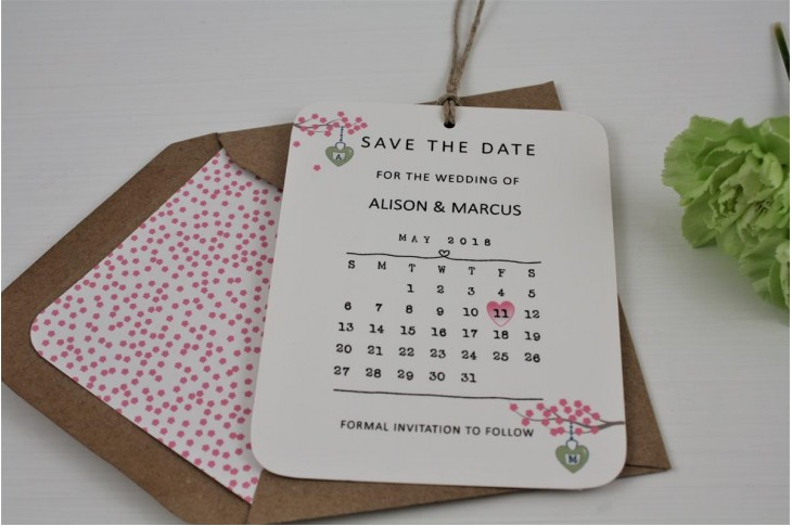 Cherry Blossom Save The Date