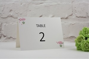 Cherry Blossom Table Number / Name
