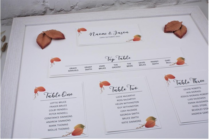 Copper Leaf Table Plan