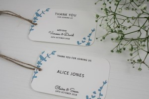 Floral Stems Favour / Place Tags