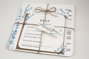 Floral Stems Wedding Invitation