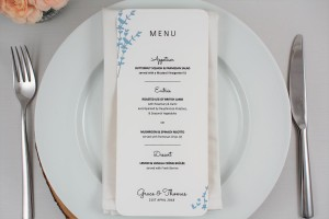 Floral Stems Menu