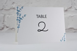 Floral Stems Table Number / Name