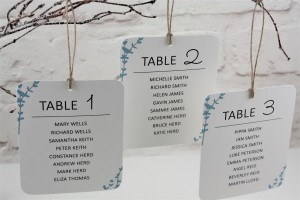 Floral Stems Table Plan Cards