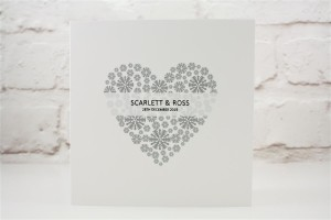 Snowflake Heart Wedding Invitation