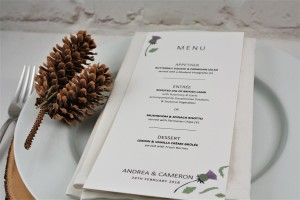 Thistle Heart Menu