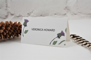 Thistle Heart Place Card