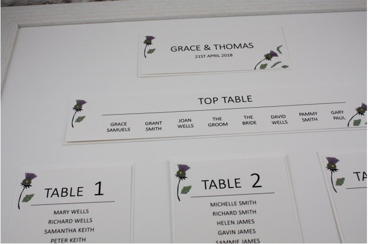 Thistle Heart Table Plan