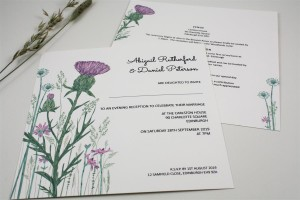 Wild Thistle Evening Invitation - Basic