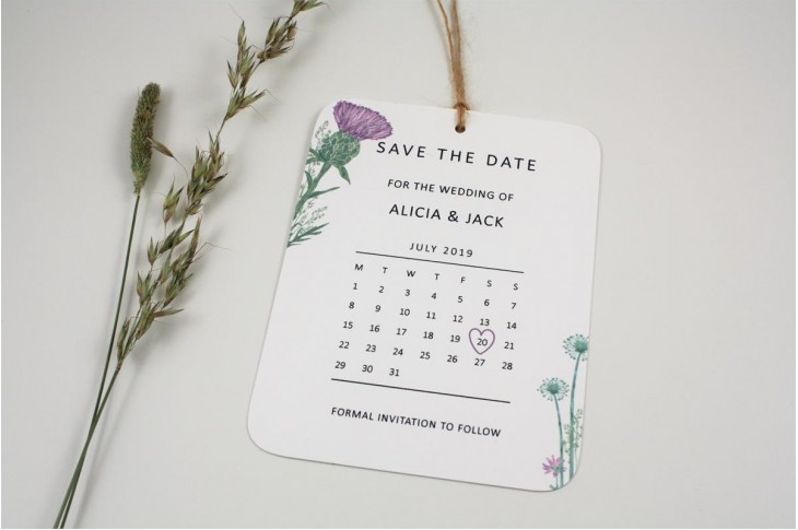 Wild Thistle Save the Date
