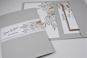 Ice Berry Pocketfold Evening Invitation