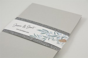 Ice Berry Pocketfold Wedding Invitation