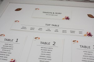 Autumn Fall Table Plan