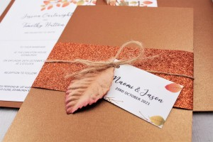 Copper Leaf Evening Invitation