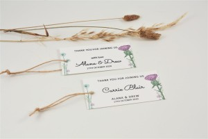 Wild Thistle Favour / Place Tags