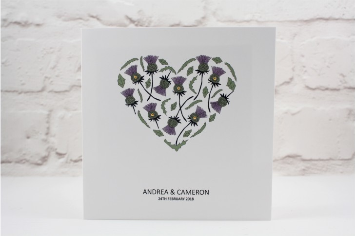 Thistle Heart Wedding Invitation