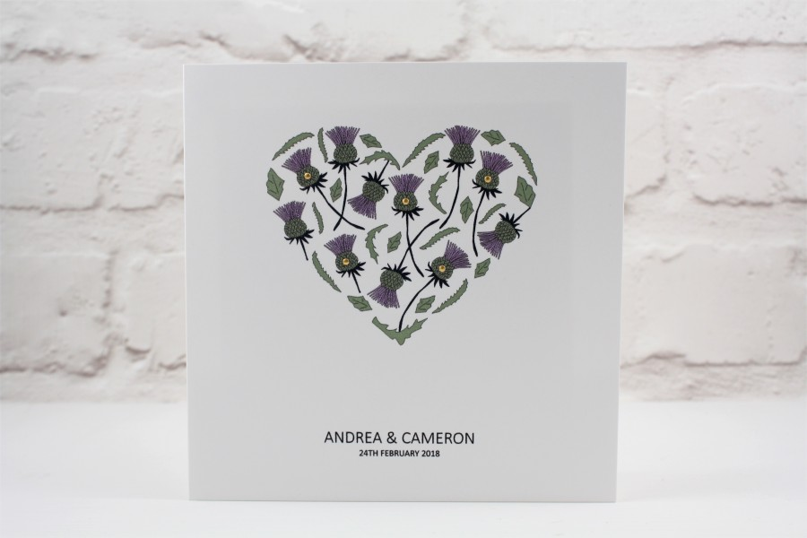 Heart Images For Wedding Invitations: Thistle Heart Wedding Invitation
