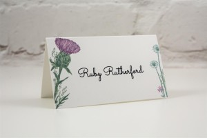 Wild Thistle Place Card