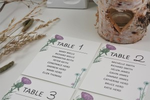 Wild Thistle Table Plan Cards