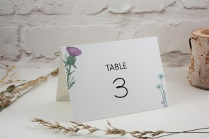 Wild Thistle Table Number / Name