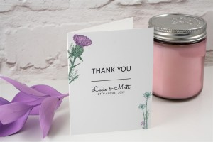 Wild Thistle Thank You Cards