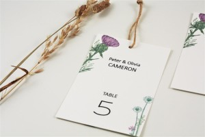 Wild Thistle Table Escort Tags