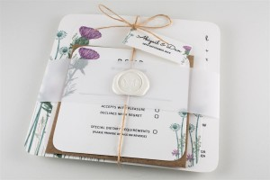 Wild Thistle Wedding Invitation