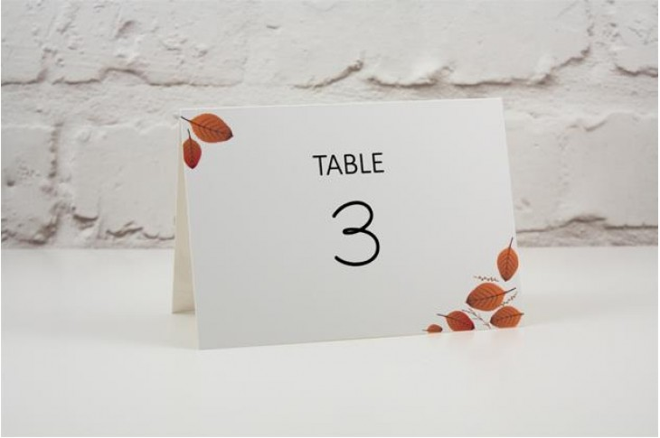 Woodside Table Number / Name